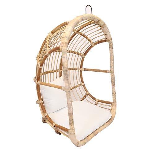 Rotan Hangstoel Buiten.Egg Hangstoel Rotan Blond Koopt U Bij Tuincentrum De Boet