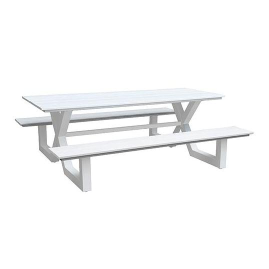 Picknick Tafel Aluminium.Jonas Picknicktafel Wit Koopt U Bij Tuincentrum De Boet