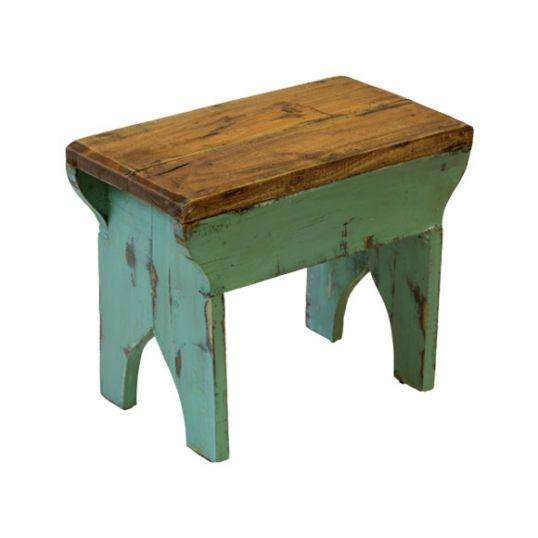 klein houten krukje – groen | buitengewoon boet | tuincentrum de boet