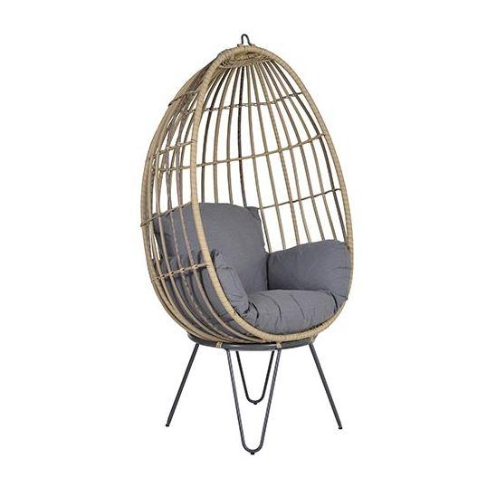 Hangstoel Rotan Buiten.Panama Egg Natural Rotan