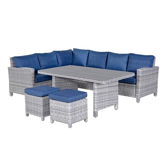 Vancouver Lounge- diningset L - Blauw